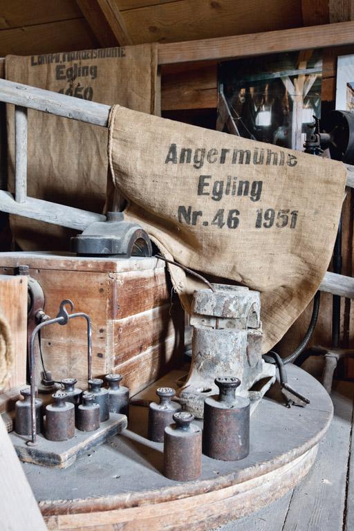 Anger-Mühle Egling   Mühlenrelikte