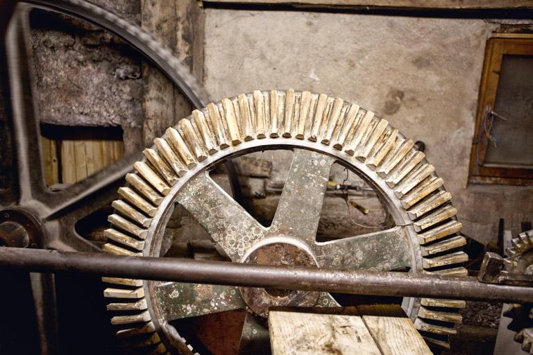 Anger-Mühle Egling   Zahnrad