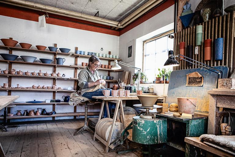 Keramikerin Corinna Post | In der Werkstatt