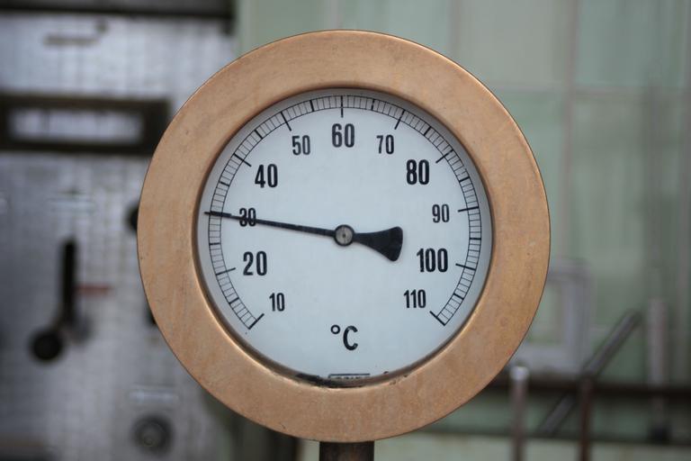 Dachsbräu | Thermometer am Sudkessel